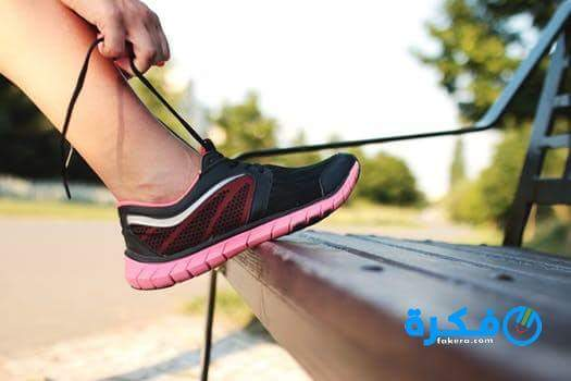 الحذاء الرياضي في الحلم