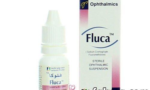نشرة قطرة فلوكا لعلاج إلتهابات القرنية Fluca Eye Drops