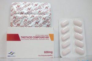 نشرة حبوب ثيوتاسيد Thiotacid لعلاج التهاب الأعصاب