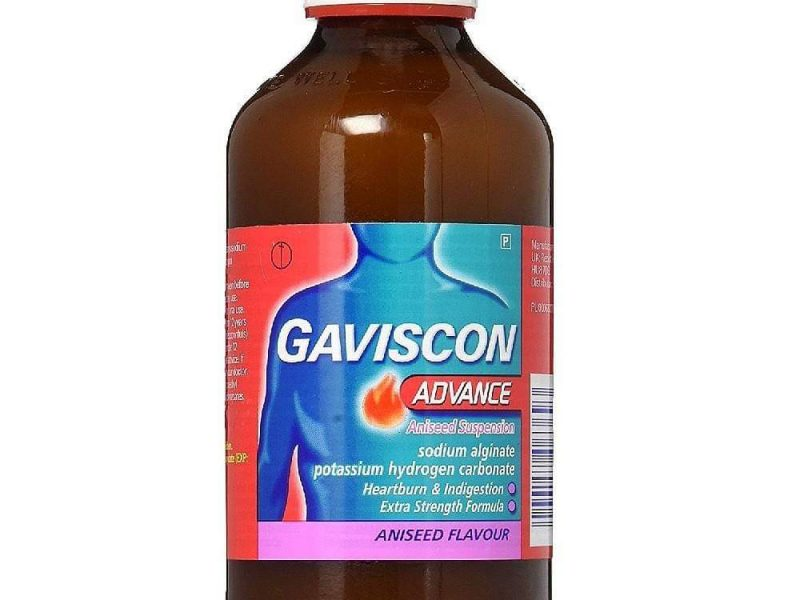 نشرة جافيسكون ادفانس Gaviscon Advance للحموضة وحرقان المعدة