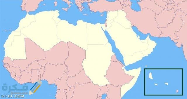 خريطة الوطن العربي صماء 6