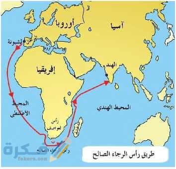 من نتائج الكشوف الجغرافية على العالم انتقال الطريق التجاري من البحر المتوسط إلى المحيط الهادي