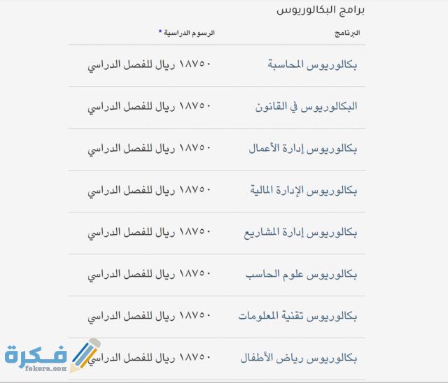 كم رسوم كليات الشرق العربي 2021 موقع فكرة