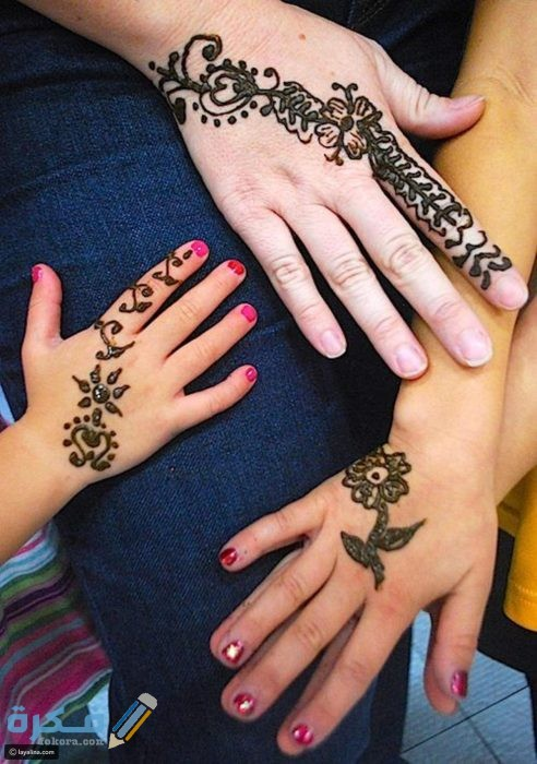صور نقش حناء بنات صغار