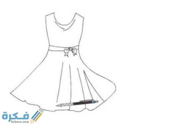 كيفية رسم فساتين وازياء للاطفال