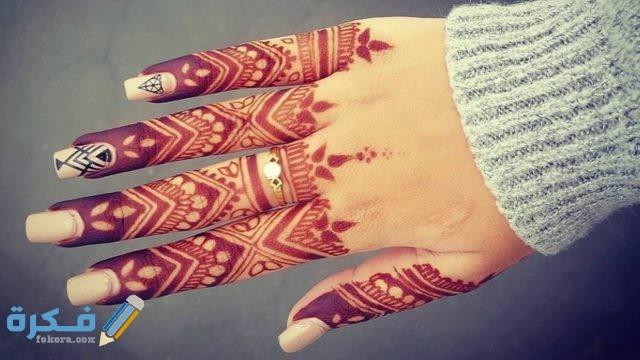 صور نقش حنه للاصابع اماراتي