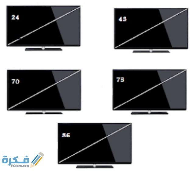 كيف أعرف مقاس شاشة التلفزيون