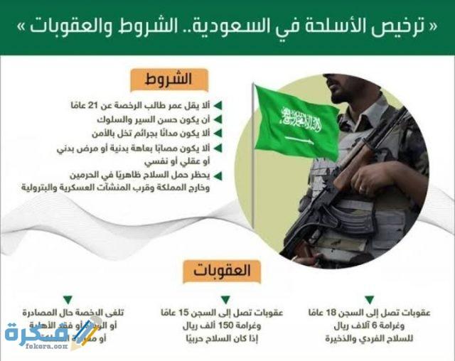 ماهي شروط تصريح السلاح في السعودية 1442