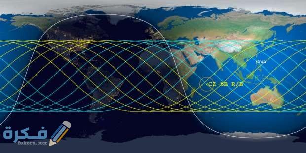 رابط تتبع الصاروخ الصيني الان بث مباشر