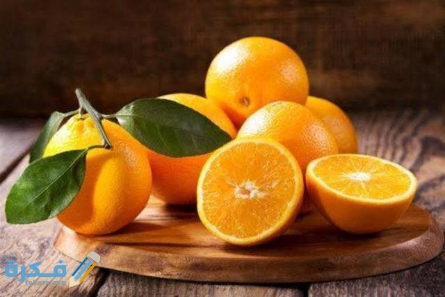 كم نسبة فيتامين سي في حبة البرتقال