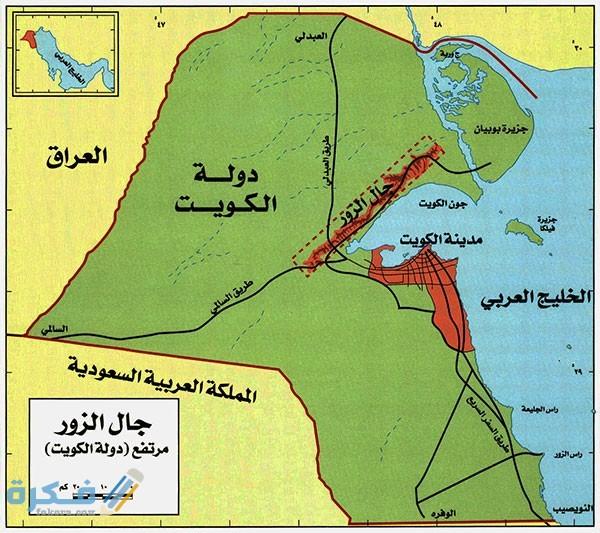 صور خريطة الكويت بالمدن وجميع المناطق كاملة بالتفصيل موقع فكرة